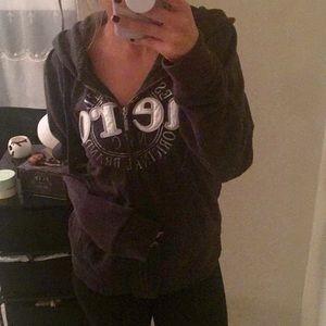 Black Aeropostale Zip Up Sweatshirt